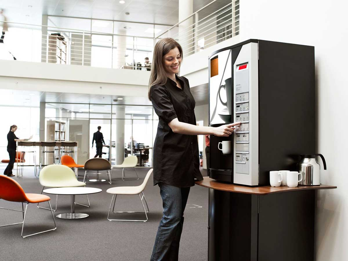 benefits of coffee machines in a workplace