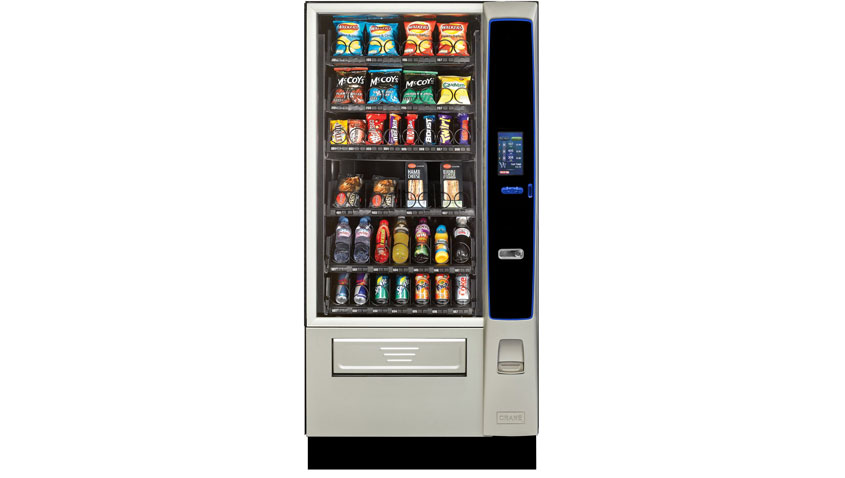 Food vending machines, merchant media touch